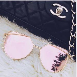 Accessories - Rose Gold Mirrored Sunglasses